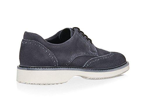 Derbies Hogan H217 en peau retournée couleur jeans - Code modèle: HXM2170M0817ULU810 Jeans