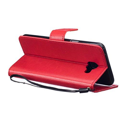 ANNN® Apple Iphone 6/6S Coque Embossing pissenlit PU Cuir Flip Housse Étui Cover Case Wallet Stand avec Carte de Crédit Fentes + Quill stylet + Pendentif poisson--A03 A04