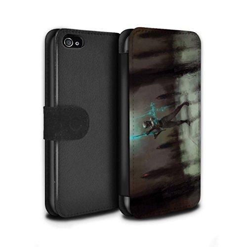 Offiziell Chris Cold PU-Leder Hülle/Case/Tasche/Cover für Apple iPhone 4/4S / Pack 5pcs Muster / Unterwelt Kollektion Schatten Ritter