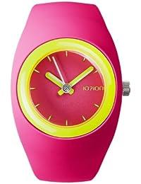 IoIon  BU-FCF23 - Reloj de cuarzo unisex, con correa de silicona, color rosa