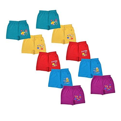 Sathiyas Akash 100% Cotton Unisex Baby Drawer's - Pack of 10 (Dark, 0-3 Months)
