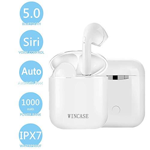 Wireless Bluetooth Headset In-Ear-Kopfhörer kabellose Headsets Stereo-Mini-Kopfhörer wasserdicht Geräuschunterdrückung mit Ladekoffer und eingebautem Mikrofon i9-2 -