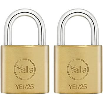 Keyed Padlock Best Used for Best Used for Cabinets Master Lock Padlock Solid Brass Body Lock School Lockers and More