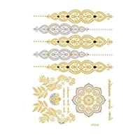 Personalized fashion gold and silver tattoo Waterproof stickers VT334