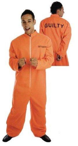 Männlich Gefangene - Adult Kostüm - Multicoloured , ()