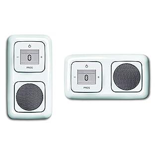Busch Jäger caché vers le haut Bluetooth Radio (8217U) ReflexSI blanc alpin ensemble complet Haut-parleur + Unité Radio + Couvercles in 2 voies, cadre intégré