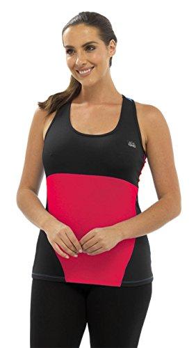 Octave - T-shirt de sport - Femme Multicolore - Pink & Black