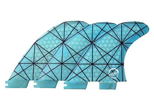 Liquida FCS 2 System Fat Flunder Finnen, G5 Medium Glasfaser Honeycomb (Blau)