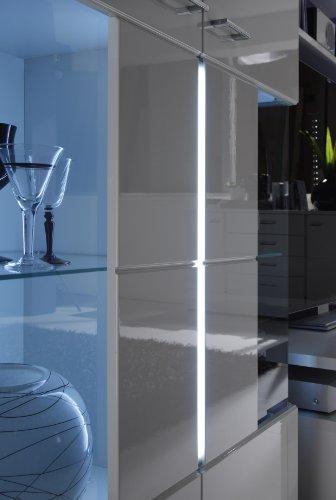 trendteam 1320-872-01 Sideboard Wohnzimmer Anrichte Kommode Nightlife in weiß Hochglanz (B/H/T) 160 x 86 x 41 cm - 3