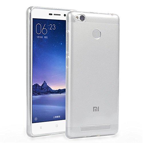 Xiaomi Redmi 3 Custodia, KKtick UltraSlim TPU Case Cover per Xiaomi Redmi 3 / RedMI 3 Pro Custodia Chiaro Trasparente Ultra Sottile Silicone Gel