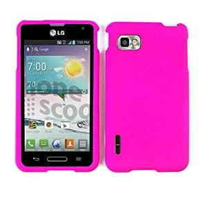 Cell Armor Snap-On Case for LG Optimus F3 - Retail Packaging - Fluorescent Solid Rich Hot Pink