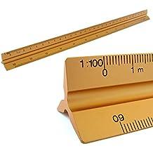 Reglas Escala triangular de aluminio 1: 100, 1: 200, 1: 250