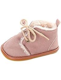 Zapatos Bebé,Xinantime Botas de Nieve para Niños Niñas Invierno Calientes (18, Marrón)