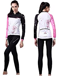 Weelly Cyclisme Sport Maillot Manches longues en jersey pour Femme