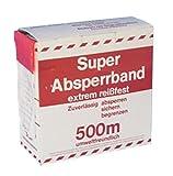 Warnband rot/weiss - 500m im Karton