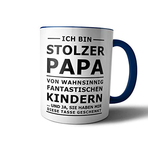 Geschenkedirekt Tasse mit Spruch STOLZER PAPA, STOLZE MAMA Kaffeetasse Kaffeebecher Kaffeepot Frühstückstasse Bürotasse, Motiv:Motiv 09