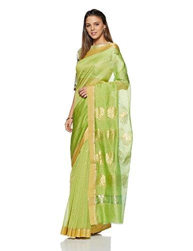 Gocoop Silk Saree Without Blouse Piece (GCMOHSCSAA0387_Florecent Green_One Size)