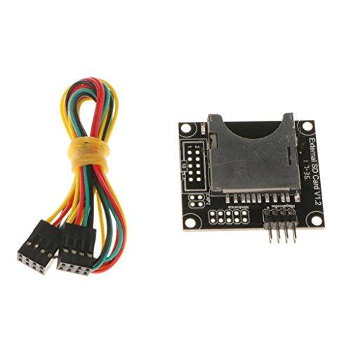 IPOTCH SD Karte Modul SD Card Reader Modul Steckplatz Anschlusskabel für 3D-Printer