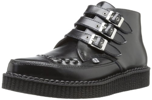 TUK  Pointed Creeper,  Sneaker uomo Nero Noir (Black Leather/Black Interlace) 39