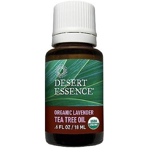Desert Essence Organic Lavender & Tea Tree Oil 0.6 fl oz (18 ml) by AB