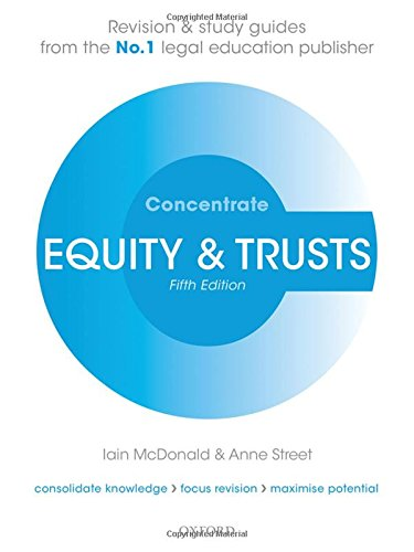 Equity & Trusts Concentrate: Law Revision and Study Guide por Iain McDonald