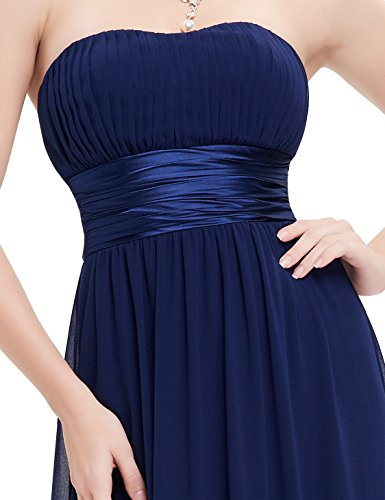 Ever Pretty Damen Empire Taille Schulterfrei Lange Abendkleider 09955 Marineblau