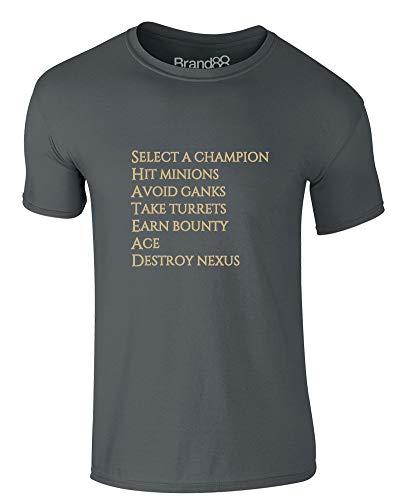 Select A Champion, Erwachsene Gedrucktes T-Shirt - Dunkelgrau M = 96-101 cm -