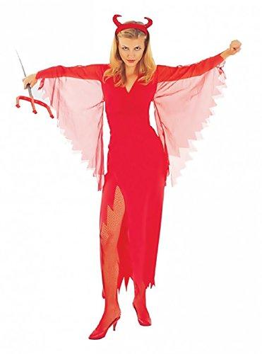 Inception Pro Infinite Größe M - Kostüm - Verkleidung - Karneval - Halloween - Teufel - Infernal Demon - Sexy - Rot - Erwachsene - Frau - Mädchen