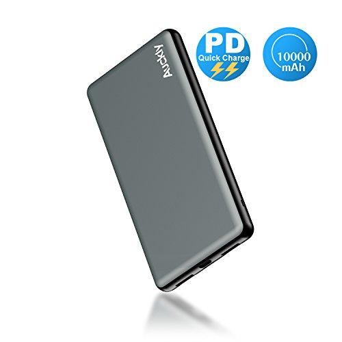 Batterie externe USB C, Auckly 10000 mAh Grande Capacité Chargeur Batterie Portable de Secours Externe, Power Bank USB C, Batterie Externe de Secours 4-Port - un Port USB Type C avec technologie Power Delivery de Charge Rapide pour iPhone X / 8 / 8 Plus, iPad Pro 2017, Tablette, Nexus 5X / 6P, Google Pixel, LG G5 / G6, Samsung S8 / Note 8, HTC 10 et tous les autres téléphones.