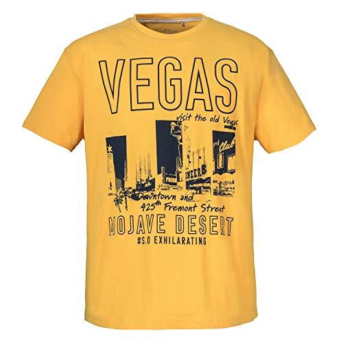 s.Oliver Cooles T-Shirt mit auffälligem Vegas Print gelb_1425 3XL -