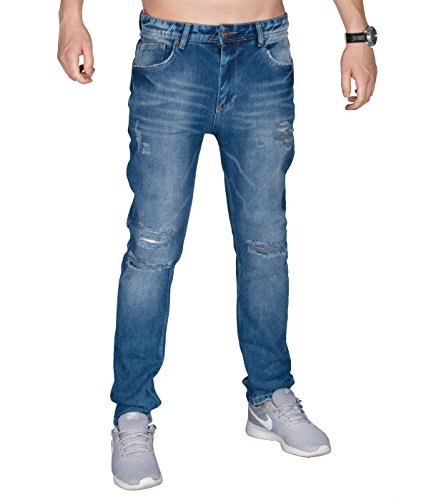 BetterStylz DraytonBZ Herren Slim Fit Jeans Stretchanteil Destroyed Look Enge Männer Hose Used Look in Denim Destroyed (30)