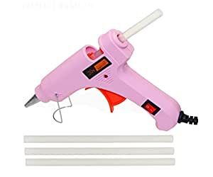 Glun Pink Mini IWILL20W 20 WATT On Off Switch and Indicator with 3 Hot Melt Glue Sticks