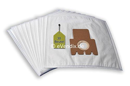 Preisvergleich Produktbild 30 Staubsaugerbeutel passend für Miele Swing H1 Electro EcoLine | 3-lagiger Microvlies Staubbeutel von eVendix®