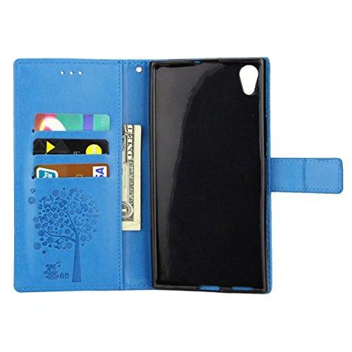 Lemorry Sony Xperia Xa1 Ultra Custodia Pelle Cuoio Flip Portafoglio Borsa Sottile Bumper Protettivo Magnetico Morbido Silicone Tpu Cover Per Ultra Fiorire oro Rosa Blu Zaffiro