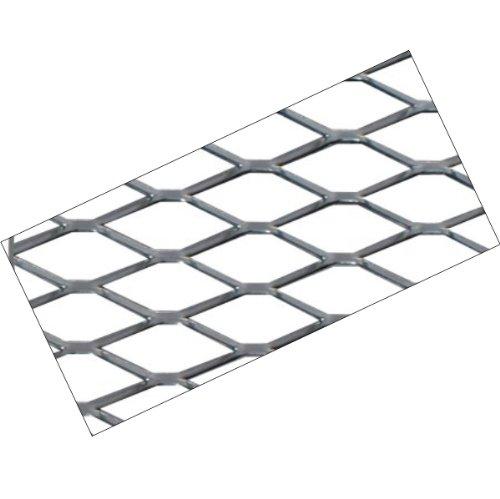 G90 - aluminium argent Mesh de course sport Alu-métal déployé grille Mesh Grill Fairing insert 120x20cm pour les pare-chocs spoiler ventilation grill