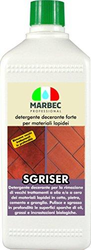 Marbec - sgriser 1lt | detergente decerante sgrassante forte per cotto, pietra, cemento e materiali lapidei in genere