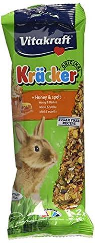 Vitakraft Kracker Rabbit Small Animal Food Honey-Spelt, Pack of 5
