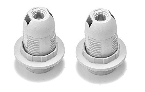 Preisvergleich Produktbild 2 Stück E14 Fassung inkl. Ring ca. Ø 28mm 57mm Länge Sockel Einbau Lamepensockel (E14)