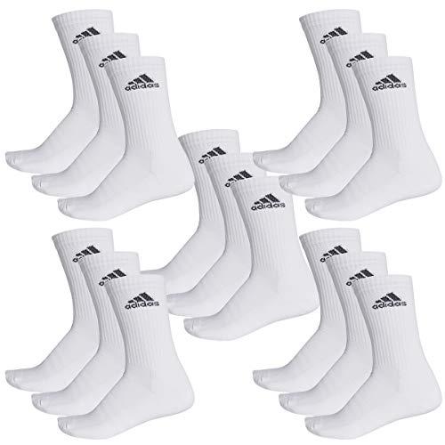 adidas 15 Paar Performance Cr HC 3p Tennissocken Sportspocken Gr. 35-54 Unisex, Socken & Strümpfe:35-38, Farbe:White -