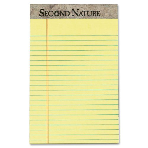 second-nature-recycled-pad-jr-legal-5-x-8-canary-12-50-sheet-pads-pack