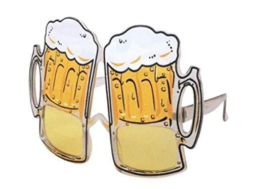 HAAC Bier Brille Bierkrug Bierglas Gag Fun Scherzbrille Bierfest Oktoberfest Fasching Karneval