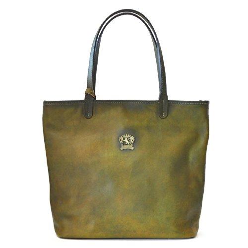 Pratesi Monterchi borsa in vera pelle - B461 Bruce (Blu Elettrico) Verde scuro