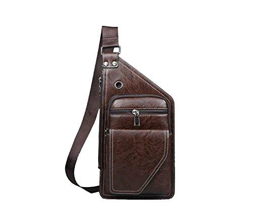 Yy.f Mode-Stil Herren Brusttasche Outdoor-Sporttasche Herren-Tasche Wasserdichte Tasche Business-Aktentasche Freizeittasche. 3 Farben Brown