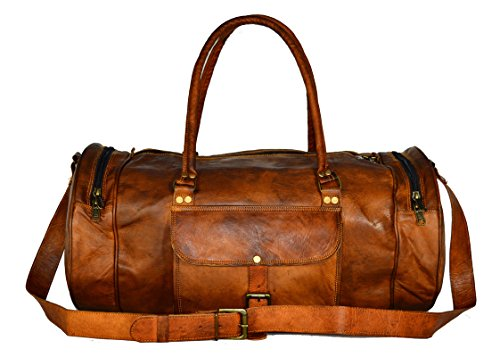 ALBORZ Leather 36 Ltr Coffee Brown Sports Duffel