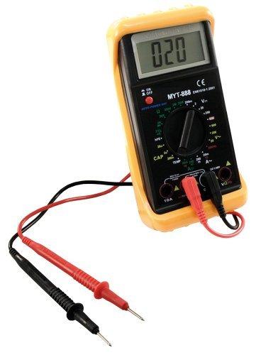 McPower Digitalmultimeter McPower \'\'MYT-888\'\', inkl. Frequenzmessung, schwarz, mit gelbem Holster