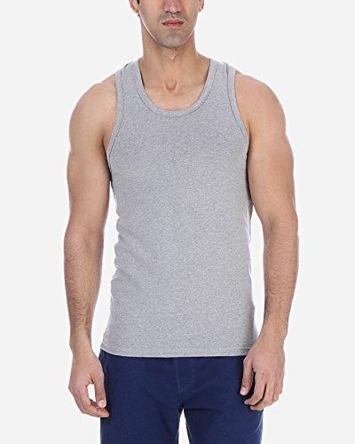 Solo®,Sportlicher Herren TankTop. Stretch. Elastische Unterhemd. Slim-fit T-Shirts. Farben & Größen, Rocer Back Undershirt, Herren Unterhemden Grey