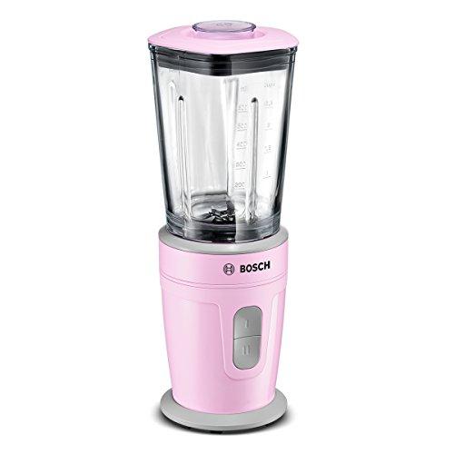 Bosch MMBM4G6K Mini-Standmixer (schnell, Glas-Mixbehälter, 2 Geschwindigkeitsstufen, leichte Reinigung, 350 Watt) rosa