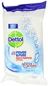 Dettol Power and Pure Multipurpose Kitchen 72 Wipes (Pack of 14)