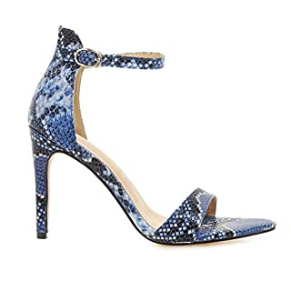 NMERWT Damen High Heels Sommer Knöchel Schnalle Open Toe Sandalen High Stiletto Pump Snake Sandalen Mit Absatz Elegant Schuhe Sandaletten