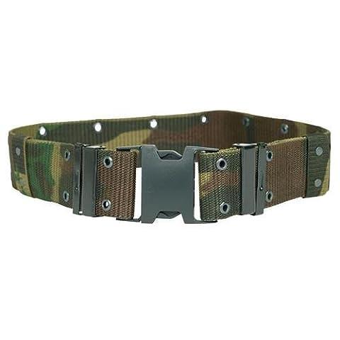 Ceinture / Ceinturon Militaire Us Army Lc2 Camouflage Foret Reglable Taille L 13310020 Airsoft